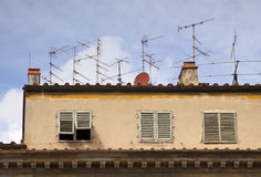 Satellite antennas Stock Photography