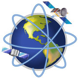 A satellite around the planet Stock Photo