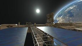 Satellite artificiale Immagini Stock Libere da Diritti