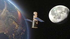Satellite artificiale video d archivio