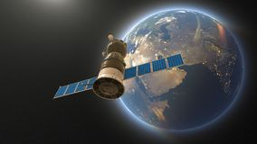 Satellite artificiel illustration stock
