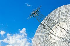 Satellite astronomy. The parabolic antenna on a background of the blue sky Royalty Free Stock Images