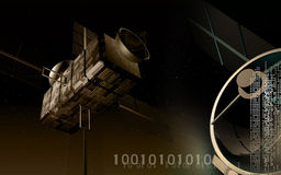 Satellite background Stock Photography