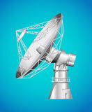 Satellite base with dish Royalty Free Stock Image