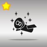 Satellite black Icon button logo symbol Royalty Free Stock Image