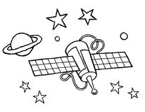 Satellite black and white Royalty Free Stock Photo