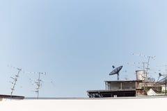 Satellite cable TV antenna Stock Photos