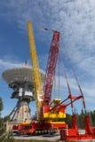 Satellite centre construction Stock Photos