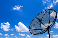 satellite with clear blue sky Stock Photo