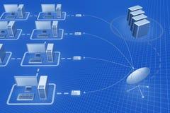 Satellite communication Stock Photos