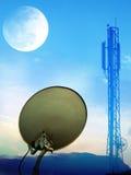 Satellite Communication. A beautiful illustration depicting satellite Communication Royalty Free Stock Image