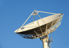 Satellite Communication. Picture of a Satellite Dish with clipping path stock images