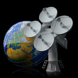 Satellite communication Stock Photo