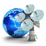 Satellite communication Stock Photos