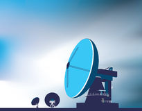 Satellite communication dishes Stock Photos