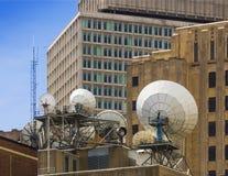 Satellite communication dishes Royalty Free Stock Images