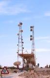 Satellite communication station Royalty Free Stock Photo