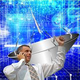 Satellite communication systems Royalty Free Stock Photography