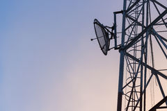 Satellite communication tower Stock Photo