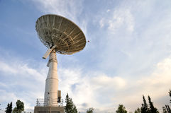 Satellite Communications Dish. University of Alaska Fairbanks, 2009 stock image