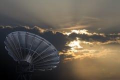 Satellite Communications Dishes Stock Photos
