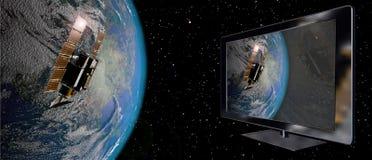Satellite connection Stock Photo