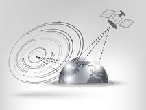 Satellite connection Royalty Free Stock Images