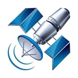 Satellite d'isolement sur le fond blanc Photographie stock
