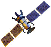 Satellite. 3D model of an artificial satellite Stock Photography