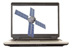 Satellite d'ordinateur portatif Image stock