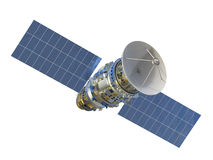 Satellite. 3d rendering satellite isolated on white royalty free stock images