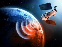 Satellite dans l'espace illustration de vecteur