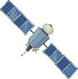 Satellite de l'espace Photos stock
