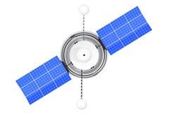 Satellite de navigation global du monde moderne rendu 3d illustration de vecteur