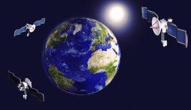 satellite de paraboloïde illustration de vecteur
