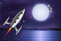 Satellite de Rocket Photo libre de droits