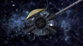 Satellite de sonde d'espace dans l'espace lointain illustration de vecteur