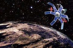 Satellite de télécommunications illustration libre de droits