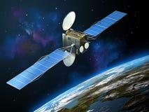 Satellite de télécommunications Photos libres de droits
