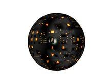 Satellite de vaisseau spatial illustration libre de droits