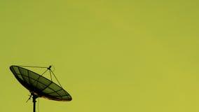 Satellite della siluetta fotografia stock