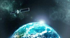 Satellite di terra immagini stock libere da diritti