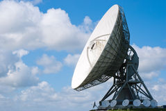 Satellite disc an blue sky Royalty Free Stock Photo