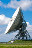 Satellite disc an blue sky. Picture  of a large satellite dish for transatlantic communication Royalty Free Stock Photos