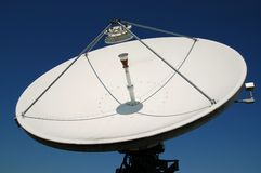 Satellite dish. A large uplink and downlink television satellite dish Royalty Free Stock Image