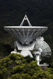 Satellite dish. Huge satellite dish recieving or broadcasting signals Royalty Free Stock Photos