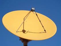 Satellite dish. Isolated on blue background Royalty Free Stock Image