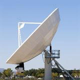 Satellite dish. Located at a antenna farm used for telecommunications Royalty Free Stock Photos