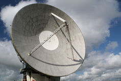 Satellite Dish. For the transmission of television signals, Goonhilly Downs, Cornwall Stock Image