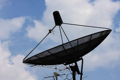 Satellite dish. And blue sky Royalty Free Stock Photos